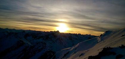 Sonnenuntergang am Muttekopf