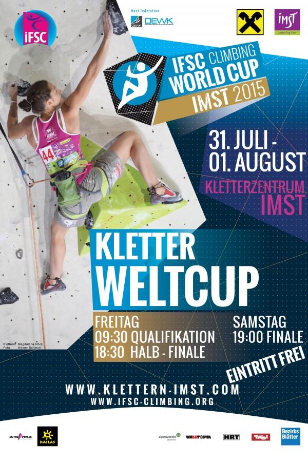 IFSC Weltcup Plakat Imst 2015
