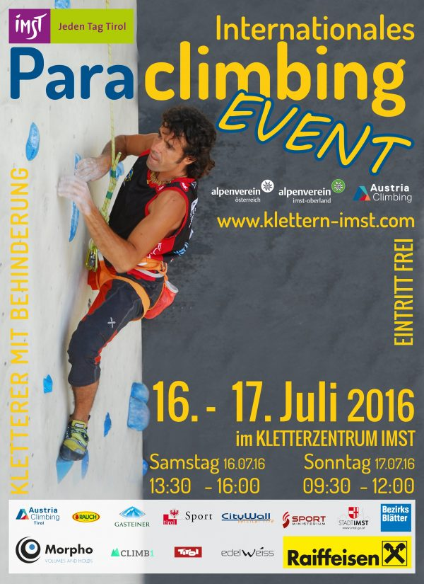 Paraclimbing Event Imst Poster 2016