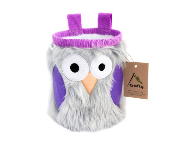 Lavender Owl Chalk Bag